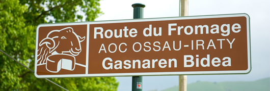 Route Fromage AOP Ossau Iraty Panneau
